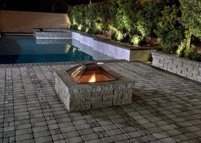 Phoenix fire pit in swimming pool