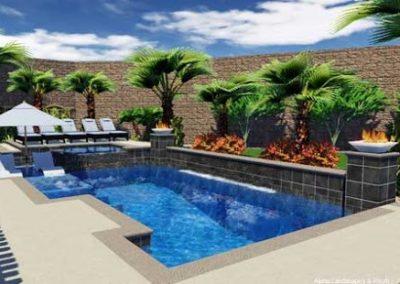 Phoenix glass tile for pool waterline