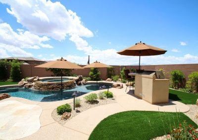 Phoenix pools with baja shelf